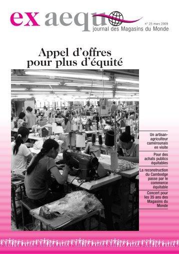Ex aequo n.25, mars 2009 - Magasin du monde