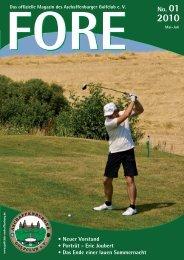 FORE 01/10 (PDF) - Aschaffenburger Golf Club