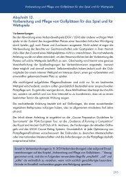 Abschnitt 12. Vorbereitung und Pflege von Golfplätzen für ... - Golf.de