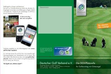 Deutscher Golf Verband e.V. - Golf.de