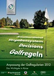 Anpassung der Golfregularien 2012 - Golf Club Grambek