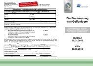 Die Besteuerung von Golfanlagen - Golf.de