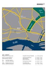 east Hamburg - Lageplan & Anfahrtskizze - EAST Hotel Hamburg