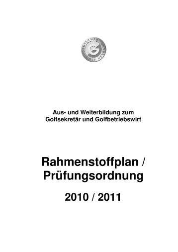 Rahmenstoffplan 2010-2011 - Golf.de