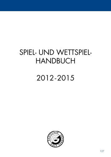 Spiel- & Wettspielhandbuch 2012 - Golf.de