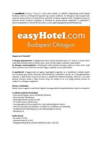 FOGLALÁSI SEGÉDLET - easyhotel