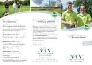 2012 Golfakademie Flyer - Golf Gut Glinde