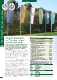 Oktober 2009 - Golf Resort Berlin Pankow