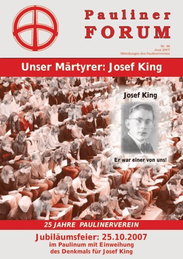 Pauliner Forum: Artikel zu J. A. King (2007) - Katholische Kirche ...