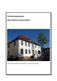 Vermietungsexposee Altes Rathaus Grevesmühlen - GOS, GSOM