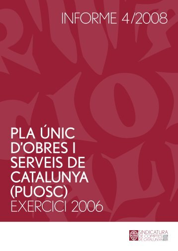 Informe 4/2008 - Generalitat de Catalunya