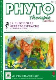 27.SÜDTIROLER HERBSTGESPRÄCHE - Phytotherapie Österreich