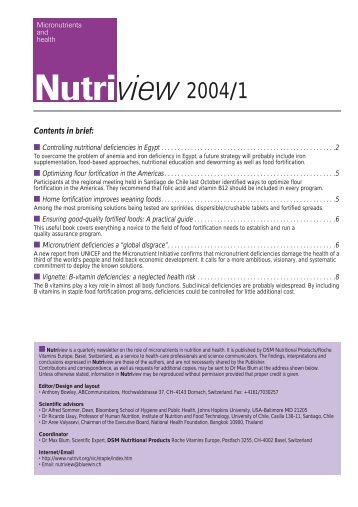 Nutriview 2004/1 - South African Health Information