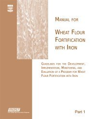 WHEAT FLOUR FORTIFICATION WITH IRON