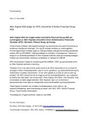 Pressrelease_AK - Gothia Financial Group