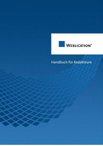 Weblication Handbuch für Redakteure - gotoMEDIA
