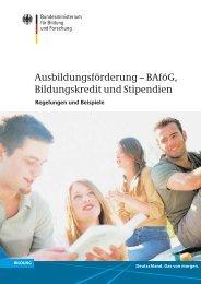 Ausbildungsförderung - BAföG, Bildungskredit und Stipendien - GPB