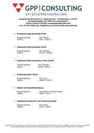 Ausgewählte Referenzen zu Organisations- / Kooperations- und DV ...