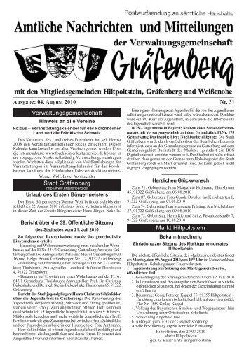 Ausgabe 31 04.08.2010 - Gräfenberg