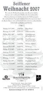 Seiffener Weihnacht 2007 Seiffener Weihnacht ... - Erzgebirgshotels - Seite 2