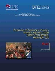 Departamento de Beni: Proyecciones de Población por Provincias y ...