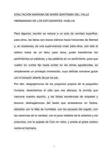 Exaltacion Mariana Maria Santisima del Valle - Hermandad de Los ...