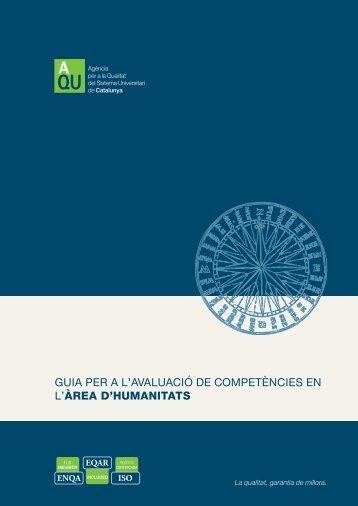 Guia per a l'avaluació de competències en l'àrea d'Humanitats