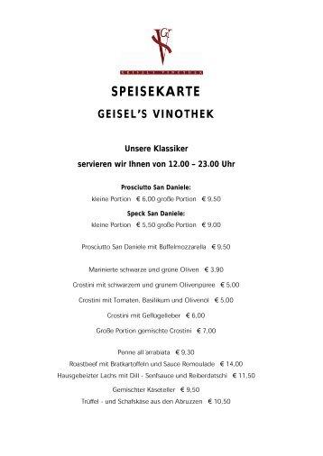 SPEISEKARTE - Hotel Excelsior