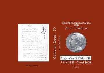 Octavian Goga - Biblioteca Judeteana ASTRA Sibiu