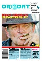 UN ROMANCIER DIN EST - revistaorizont.ro