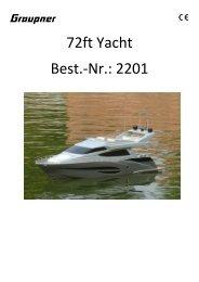 72ft Yacht Best.-Nr.: 2201 - CMC-Versand