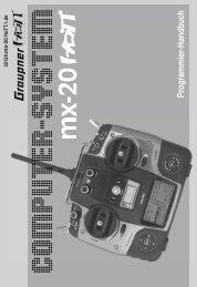 Graupner MX-20 HoTT Bedienungsanleitung GER - trendtraders RC ...