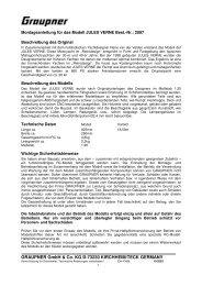 GRAUPNER GmbH & Co. KG D-73230 KIRCHHEIM/TECK GERMANY