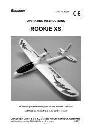 Anleitung 92200 ROOKIE XS-gb - Graupner