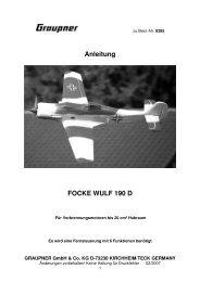 Anleitung FOCKE WULF 190 D - Graupner