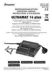 ULTRAMAT 14 plus - Graupner