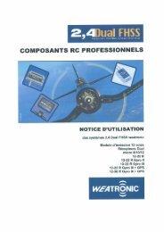 Notice d'utilisation - Composants RC Professionels -  Graupner