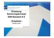 Erstellung Sanierungskonzept g p IDW-Standard S 6 - Eckpfeiler -
