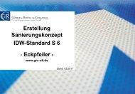 Erstellung Sanierungskonzept IDW-Standard S 6 - Eckpfeiler -