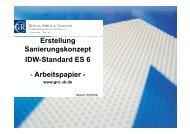 Erstellung Sanierungskonzept g p IDW-Standard ES 6 - Arbeitspapier -