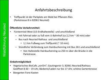Waldspaziergang durch den Neurieder Wald/Forst Kasten