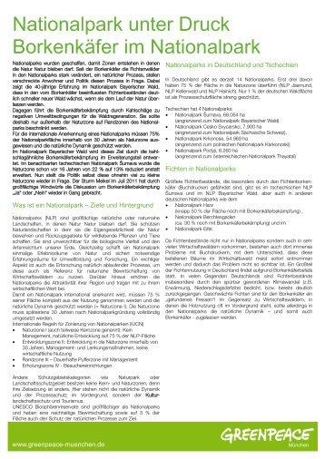 NLP Bayerischer Wald & Šumava - Greenpeace-Gruppe München