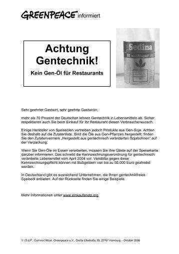 Flyer (PDF) - Greenpeace-Gruppe München