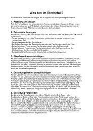 Informationsschreiben: Was tun im Sterbefall? - Grettstadt