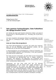 Fanbrief der Polizei Mönchengladbach - SpVgg Greuther Fürth