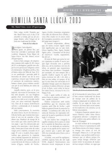 HOMILIA SANTA LLÚCIA 2003 - Ajuntament de Gelida