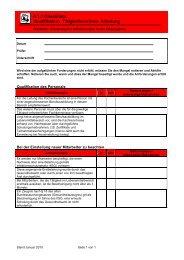 Checkliste Qualifikation, Tätigkeitsverbote, Schulung - Groma