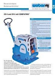 Reversierbare Bodenverdichter CR 6 und CR 6 mit COMPATROL®