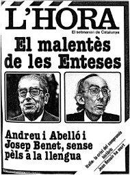 Andreu i Abelló i Josep Benet, sense pèls a la llengua - Atipus