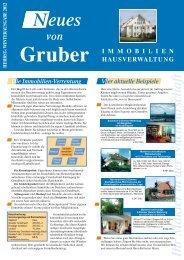 Winter 2012 - Gruber - Immobilien und Hausverwaltung